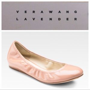 •Vera Wang Lavender• Lillian Leather Ballet Flats